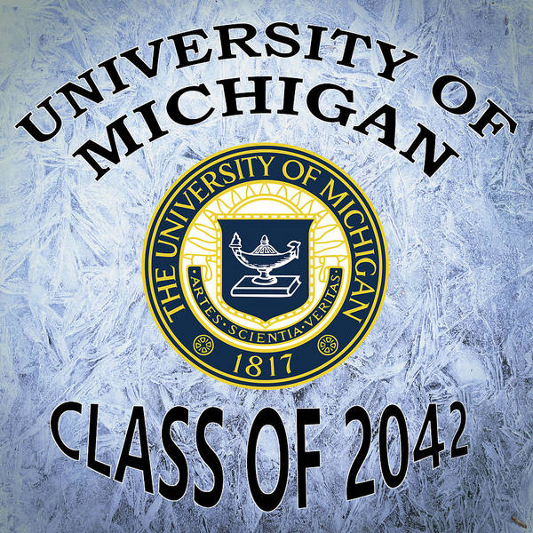 Wall Art - Digital Art - University Of Michigan Class Of 2042 by Movie Poster Prints