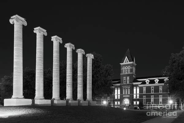 Photograph - University Of Missouri Columbia Nighttime  by University Icons