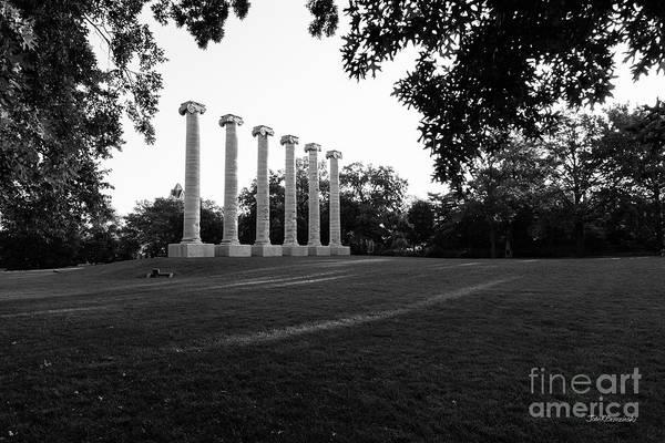 Photograph - University Of Missouri The Columns by University Icons