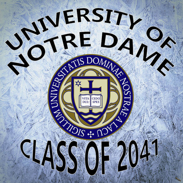 Wall Art - Digital Art - University Of Notre Dame Class Of 2041 by Movie Poster Prints