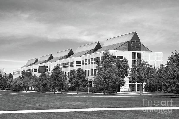 Photograph - University Of Notre Dame De Bartolo Hall by University Icons