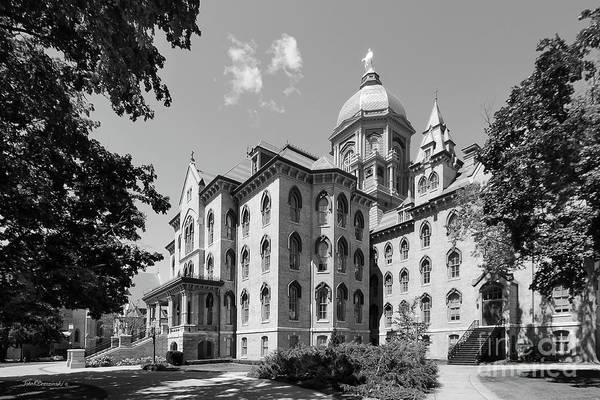 Notre Dame Photograph - University Of Notre Dame Main Building by University Icons