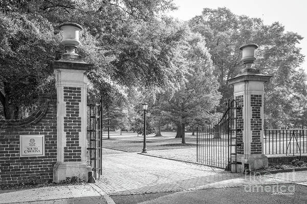Photograph - University Of South Carolina Horseshoe Gate by University Icons