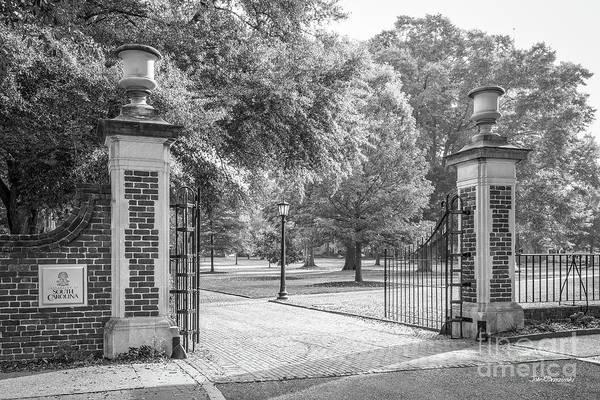 Photograph - University Of South Carolina Horseshoe Gate by University Icons