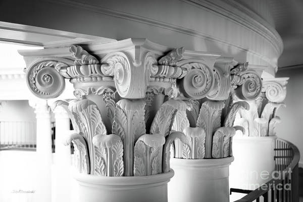 Photograph - University Of Virginia Rotunda Column Capitals by University Icons
