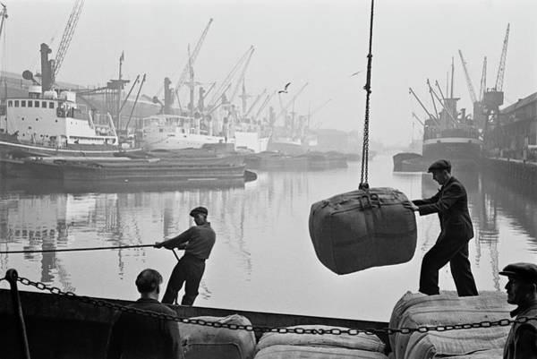 Warehouse Photograph - Unloading Bales Of Wool by Bert Hardy