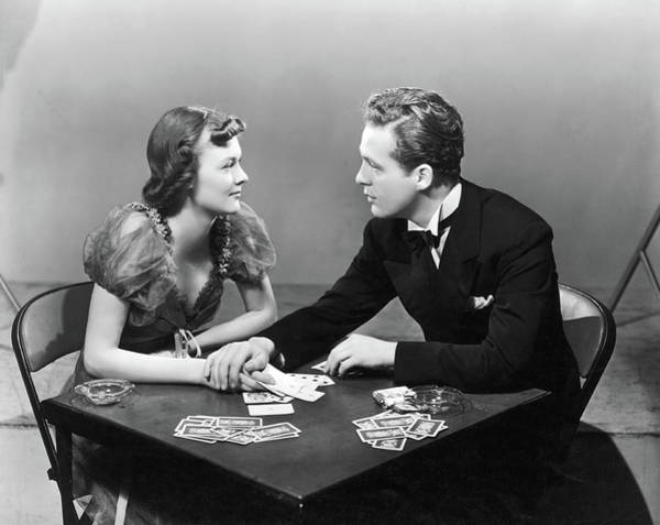 Heterosexual Couple Photograph - Unlucky At Cards by Fpg