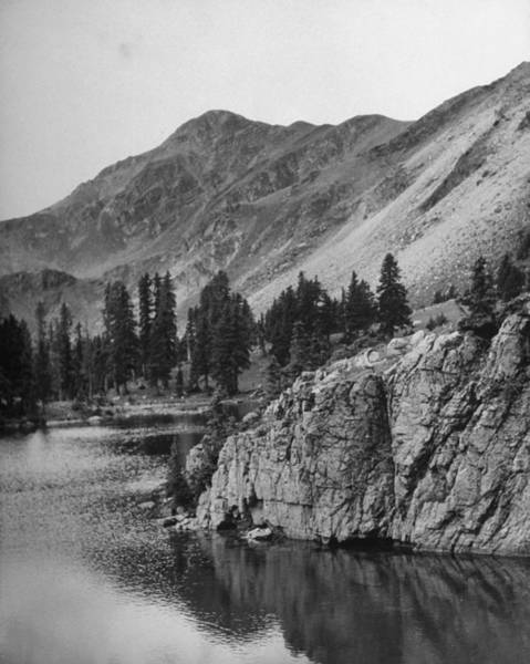 Politics Photograph - Unmapped Lake Laying At Foot Of Truchas by Cornell Capa
