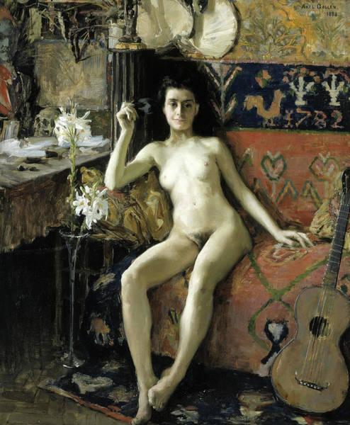 Wall Art - Painting - Unmasked, 1888 by Akseli Gallen-Kallela