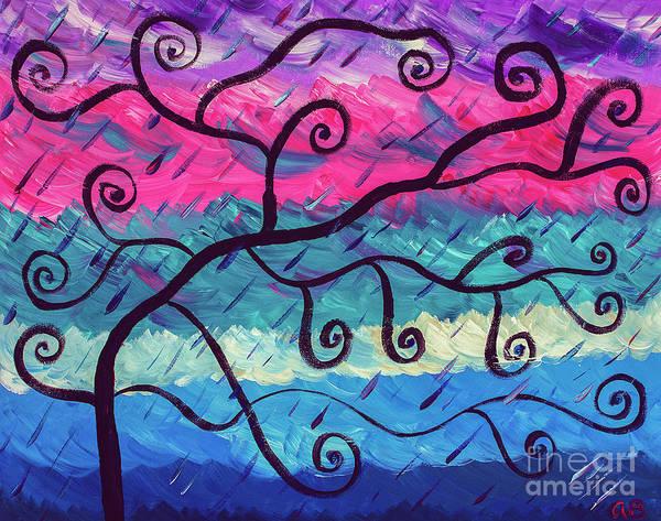 Wall Art - Painting - Unordinary Tree by Adenike Brewington