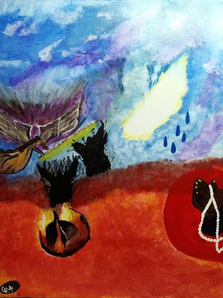 Spiritual Warfare Painting - Unseen War by Chereka Ray