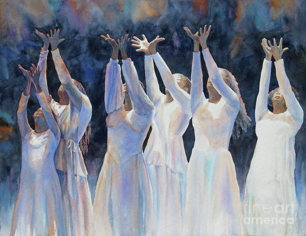 African Dance Painting - Unspeakable Praise by Suzanne Accetta