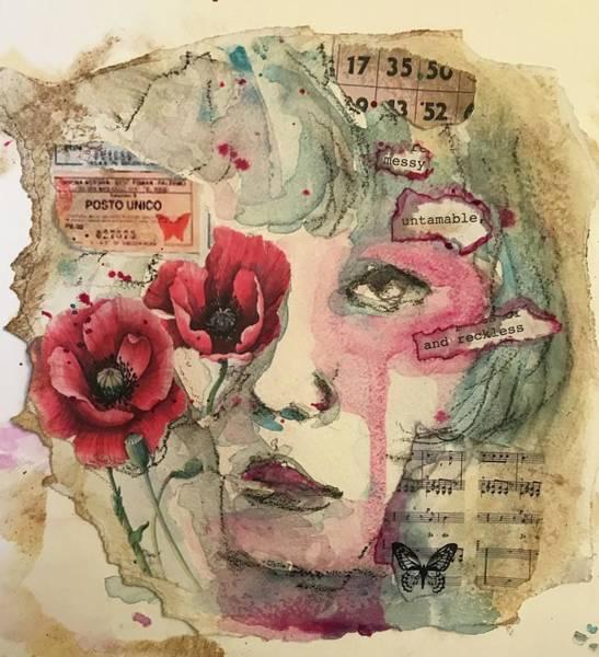 Mixed Media - Untamable by Diane Fujimoto
