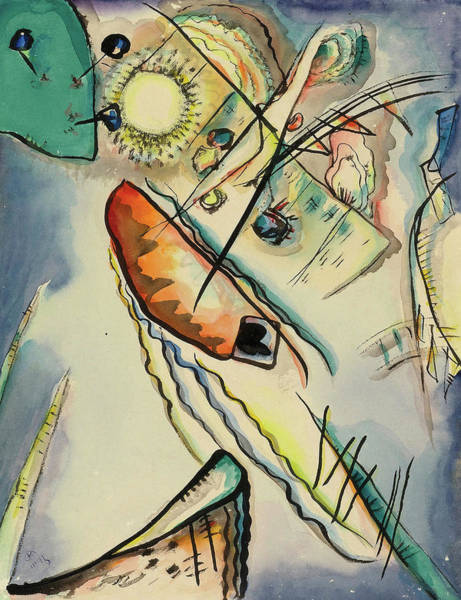 Untitled Painting - Untitled, 1916 by Wassily Kandinsky