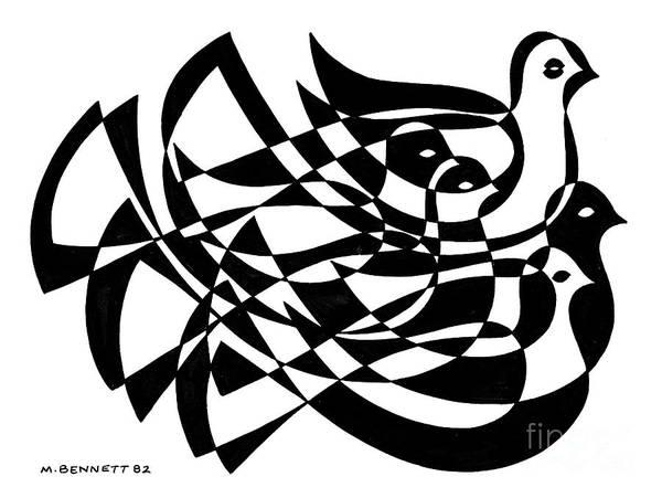 Wall Art - Painting - Untitled, Birds by Manuel Bennett