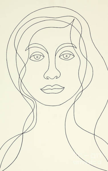 Wall Art - Painting - Untitled, Female Portrait by Manuel Bennett