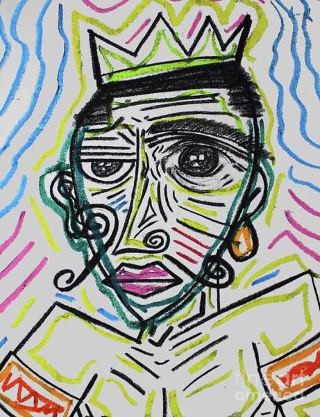 Pastel - Untitled Ix by Odalo Wasikhongo