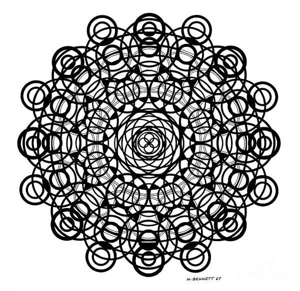 Wall Art - Drawing - Untitled  Mandala by Manuel Bennett