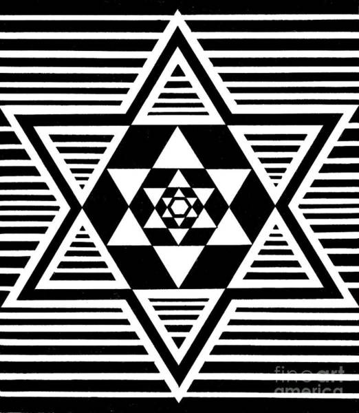 Painting - Untitled Symmetrical Star Design by Manuel Bennett