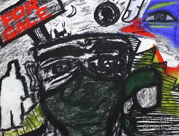 Pastel - Untitled Vi by Odalo Wasikhongo