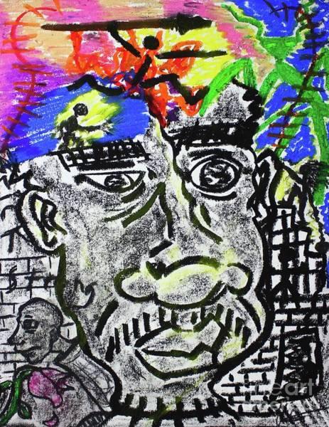 Pastel - Untitled X by Odalo Wasikhongo