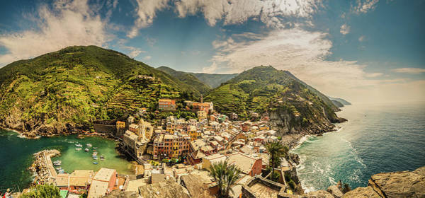 Wall Art - Photograph - Unusual View Of Sea Village On Rocky Cliff by Gone With The Wind