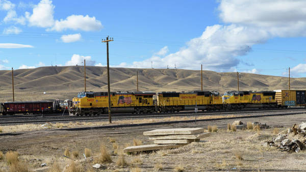 Photograph - Up 5400 Passing Through by Jim Thompson