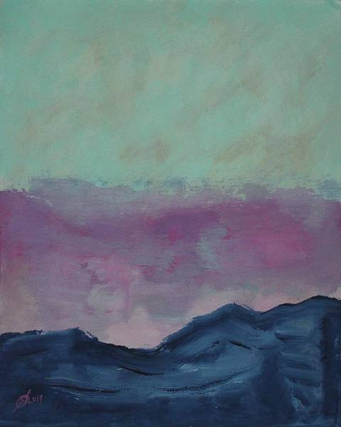 Painting - Up A Mountain Original Painting by Sol Luckman