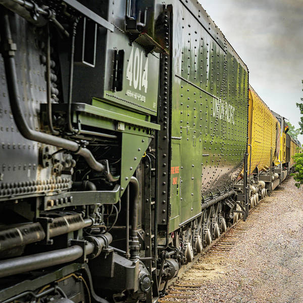 Photograph - Up Engine 4014 Big Boy Down The Side by Laura Hedien