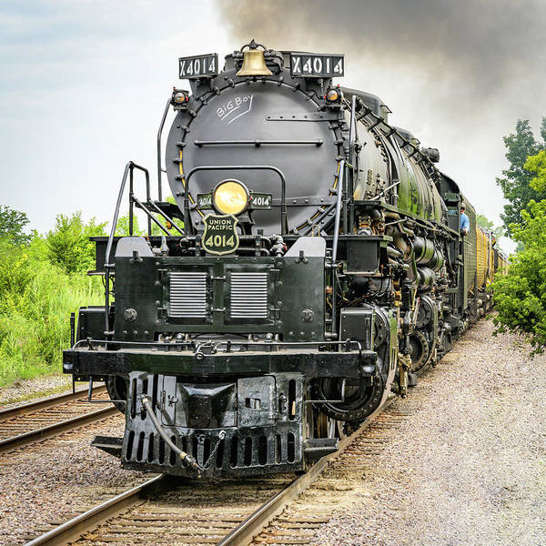 Photograph - Up Engine 4014 Big Boy by Laura Hedien