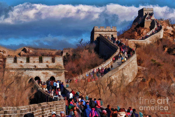 Photograph - Up The Steep Great Wall China by Blake Richards