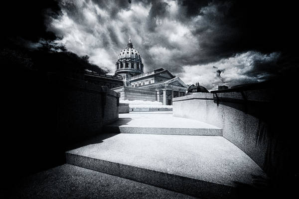 Photograph - Up The Steps To The Pa Capital by Paul W Faust - Impressions of Light
