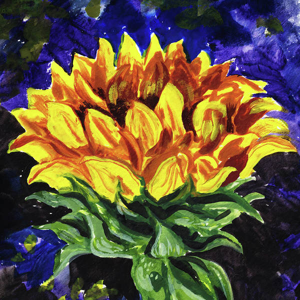 Wall Art - Painting - Up To The Sun Sunflower Impressionism  by Irina Sztukowski