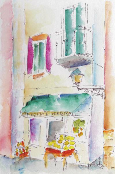 Painting - Up Via Lorenzo D'amalfi Italy by Pat Katz