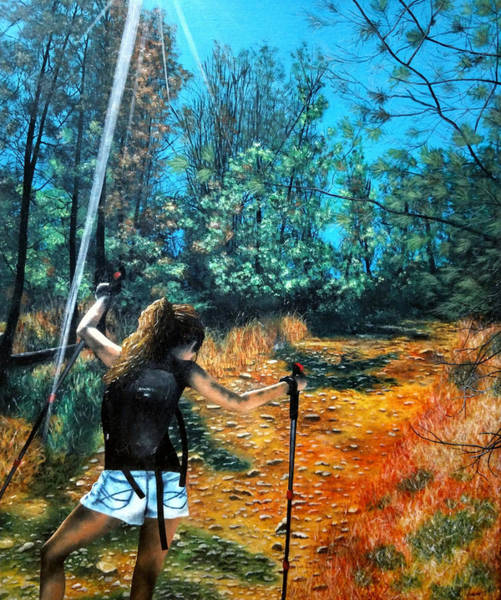 Painting - Uphill - Painting by Ashley Koebrick Schmidt