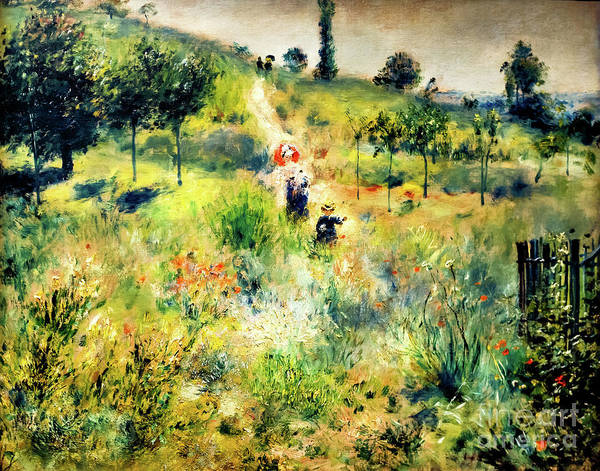 Painting - Uphill Path In The Tall Grass by Auguste Renoir