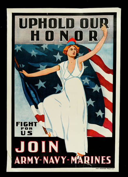 Western New York Wall Art - Photograph - Uphold Our Honor, Fight For Us, Join by The New York Historical Society
