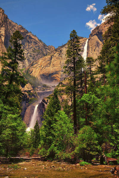 Photograph - Upper And Lower Yosemite Falls by Greg Norrell