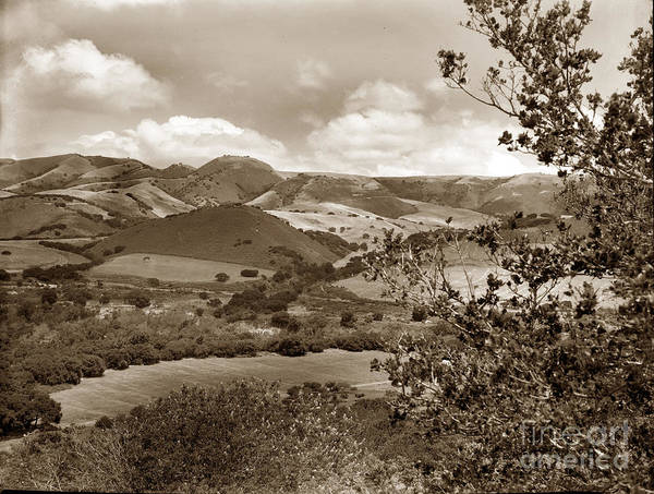 Photograph - Upper Carmel Valley 1940 by California Views Archives Mr Pat Hathaway Archives