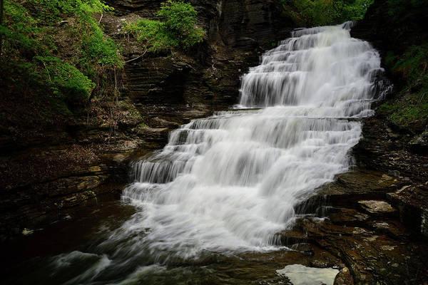 Wall Art - Photograph - Upper Cascadilla Falls  by Michael Morse