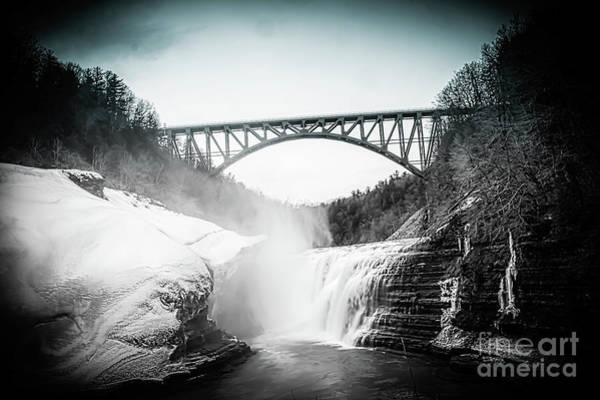 Photograph - Upper Falls At Letchworth State Park by Jim Lepard