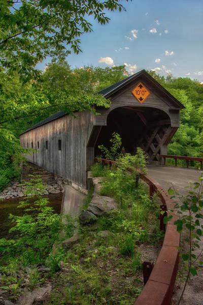 Photograph - Upper Falls Covered Bridge - Vermont by Joann Vitali