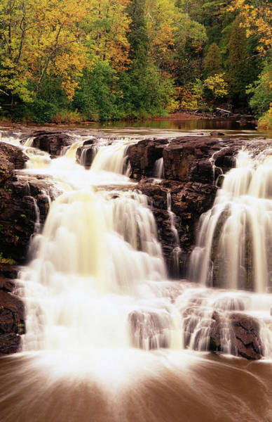 Lake Superior Photograph - Upper Falls In Motion, North Shore Of by Richard  Cummins