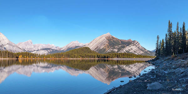 Photograph - Upper Kananaskis Lake And Reflection by Tim Kathka