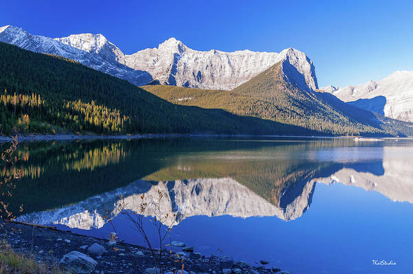Photograph - Upper Kananaskis Lake by Tim Kathka