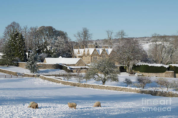 Wall Art - Photograph - Upper Slaughter Manor In The Snow by Tim Gainey