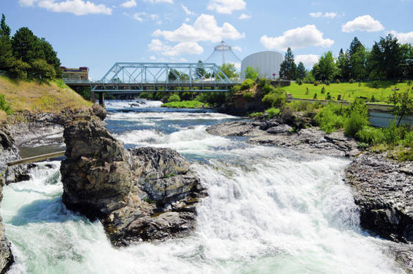 Public Places Wall Art - Photograph - Upper Spokane Falls With Howard Street by Gregobagel