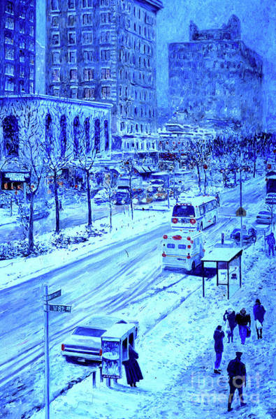 Wall Art - Painting - Upper West Side, Manhattan, Snow,  by Anthony Butera