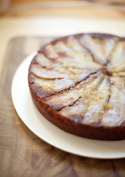 Upside Down Photograph - Upside Down Pear And Ginger Cake by Sf foodphoto