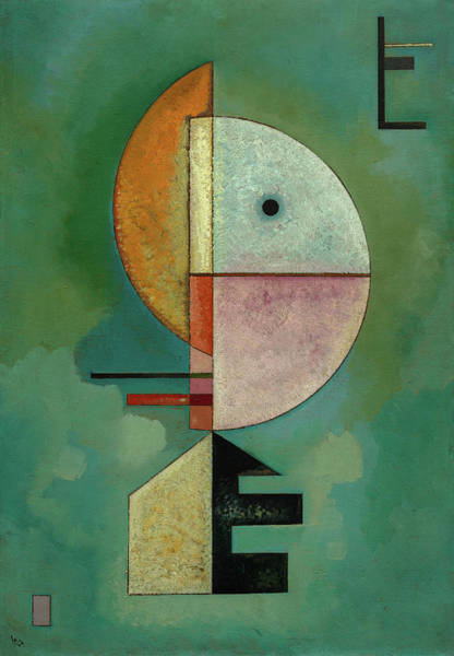 Visual Illusion Wall Art - Painting - Upward - Empor, 1929 by Wassily Kandinsky